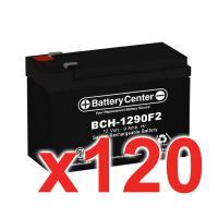 12V 9Ah SLA (sealed lead acid) High Rate Battery Set of 120