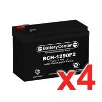 12V 9Ah SLA (sealed lead acid) High Rate Battery Set of Four