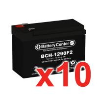 12V 9Ah SLA (sealed lead acid) High Rate Battery Set of Ten
