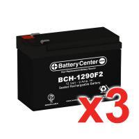 12v 9Ah SLA (sealed lead acid) High Rate Battery Set of Three