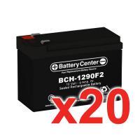 12V 9Ah SLA (sealed lead acid) High Rate Battery Set of Twenty