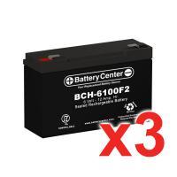 6v 12Ah High Rate SLA (sealed lead acid) Battery Set of Three