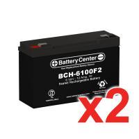 6v 12Ah High Rate SLA (sealed lead acid) Battery Set of Two