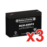 6v 9Ah High-Rate SLA (sealed lead acid) Battery Set of three