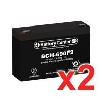 6v 9Ah High-Rate SLA (sealed lead acid) Battery Set of Two