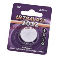 CR2032 Lithium Battery by Ultralast